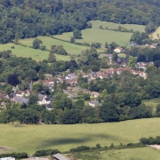 Air07. Closer village view from SE