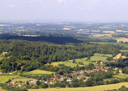 The village and the north face seen from the air, (026).