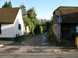 Huckers Lane with the Queens on the left and the Old Forge to the right. (159)
