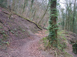 The start of the Bostal path at the base of the Zig Zag. 882